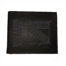 New York Rangers  Black Leather Bi-Fold Wallet