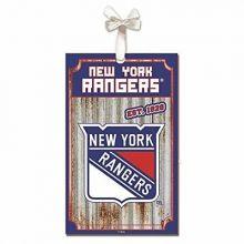 New York Rangers Corrugated Metal Sign Ornament