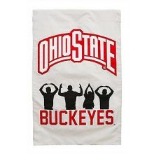"Ohio State Buckeyes  28"" x 44"" Two Sided Applique House Flag"