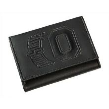 Ohio State Buckeyes Black Leather Tri-Fold Wallet