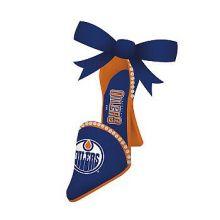 Edmonton Oilers Team High Heel Shoe Ornament