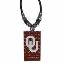 Oklahoma Sooners Diamond Plate Rope Necklace, 20-Inch