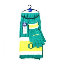 Oregon Ducks Cold Weather Knit Scarf and Glove Set