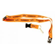 NCAA Oklahoma State Cowboys Double Sided Team Color Breakaway Lanyard Key Chain