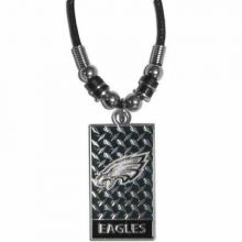 Philadelphia Eagles Diamond Plate Rope Necklace, 20-Inch