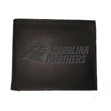 Carolina Panthers Black Leather Bi-Fold Wallet