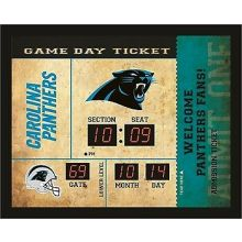 Carolina Panthers Bluetooth Scoreboard Wall Clock
