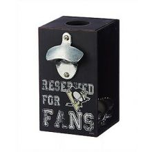 Pittsburgh Penguins Wooden Bottle Cap Caddy