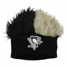 Pittsburgh Penguins Faux Fur Hair Flair Beanie