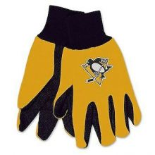 Pittsburgh Penguins Yellow and Black Utility Gloves