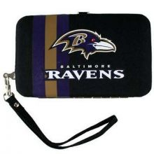 "Baltimore Ravens  Distressed Wallet Wristlet Case (3.5"" X .5"" X 6"")"