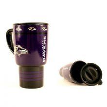 Baltimore Ravens Sculpted Travel Mug with Lid, 15oz