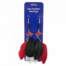 Arkansas Razorbacks Fan Feather Earrings