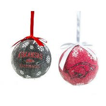 Arkansas Razorbacks LED Ball Ornaments Set of 6