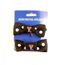 Texas Tech Red Raiders Bow Pigtail Holders