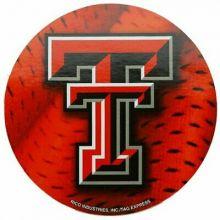 "Texas Tech Red Raiders 4"" Round Vinyl Decal"