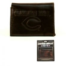 Cincinnati Reds Brown Tri-Fold Leather Wallet