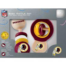 Washington Redskins Wooden Baby Rattle Set