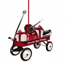 Detroit Red Wings Team Wagon Ornament