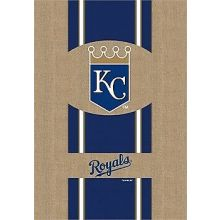 "Kansas City Royals 28"" x 44"" Burlap Vertical Flag"