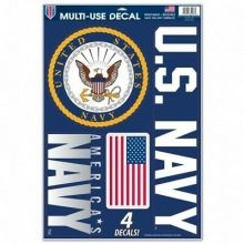 United States Navy Multi-Use Removeable 4 Decals