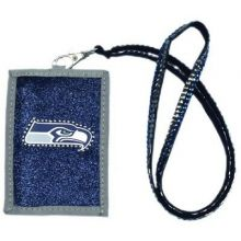 Seattle Seahawks Beaded Lanyard I.D. Wallet