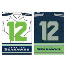 Seattle Seahawks Double Sided Garden Flag
