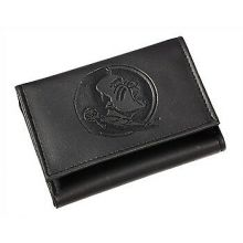 Florida State Seminoles Black Leather Tri-Fold Wallet
