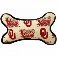 Oklahoma Sooners Squeeky Dog Bone Toy