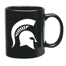 Michigan State Spartans 15 oz Black Ceramic Coffee Cup