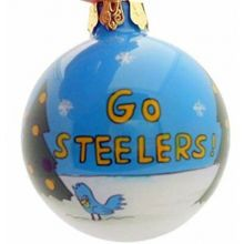 Pittsburgh Steelers Hand Painted Ball Ornament