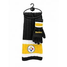 Pittsburgh Steelers Cold Weather Knit Scarf and Glove Set