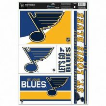 NHL St. Louis Blues 11'' x 17'' Ultra Decal Window Clings Sheet