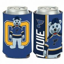 St. Louis Blues 2 Sided Design Mascot 12 oz Can Cooler Koozie