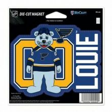 "St Louis Blues Mascot Louie 4.5"" X 6"" Die-Cut Magnet"