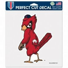 """MLB Licensed St. Louis Cardinals 4"""" X 4"""" Perfect Cut Angry Bird Decal"""