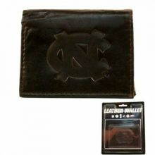North Carolina Tar Heels Brown Leather Wallet