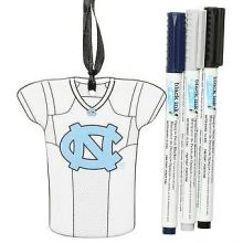 North Carolina Tar Heels Personalizable Jersey Ornament with Team Color Markers
