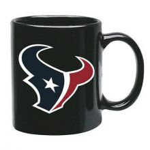 Houston Texans 15 oz Black Ceramic Coffee Cup