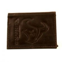 Houston Texans Brown Leather Wallet