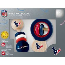 Houston Texans Wooden Baby Rattle Set