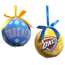 OKC Thunder  LED Ball Ornaments Set of 6