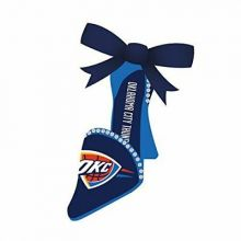 OKC Thunder Team High Heel Shoe Ornament