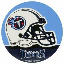 "Tennessee Titans 4"" Round Vinyl Decal"