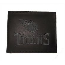 Tennessee Titans Black Leather Bi-Fold Wallet
