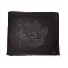 Toronto Maple Leafs  Black Leather Bi-Fold Wallet