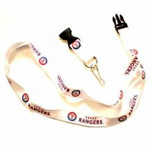MLB Texas Rangers Team Color Breakaway Lanyard Key Chain