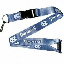NCAA North Carolina Tar Heels Team color Breakaway Lanyard Key Chain