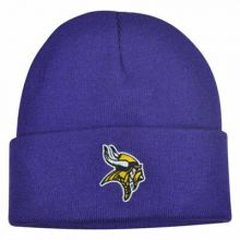 NFL Officially Licensed Minnesota Vikings Youth Purple Cuff Beanie