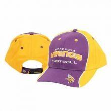 Minnesota Vikings Crown Script Adjustable Hat